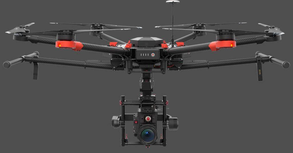 aerial video footage