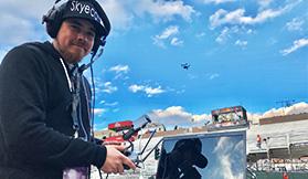 drone video in la